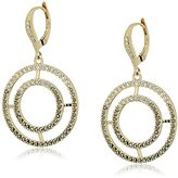 Judith Jack Sterling Silver/Swarovski Marcasite Gold-Tone Linear Drop Earrings