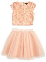 Girl's Miss Behave Brooke Top & Skirt Set