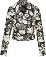 Sam Edelman Cropped Printed Jacket