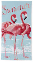 Oasis Outdoor Watercolor Flamingo Beach Towel