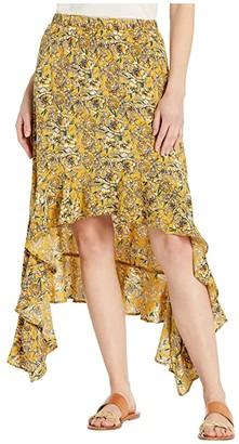 Rock and Roll Cowgirl Skirt 69-4508 (Mustard) Women's Skirt