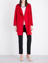 Armani Collezioni V-neck wool and cashmere-blend coat