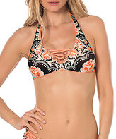 Becca by Rebecca Virtue Southern Belle Halter Lace Up Halter Top