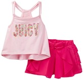 Juicy Couture Strappy Tank & Ruffle Short Set (Little Girls)