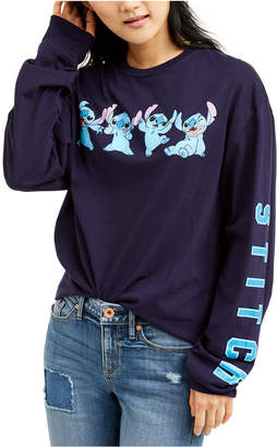 Disney Juniors' Stitch Long-Sleeve T-Shirt