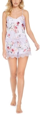 INC International Concepts Inc Women's Cami Tank & Shorts Pajama Set, Created for Macy's