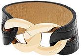 Michael Kors Croco-Embossed Leather Cuff Bracelet
