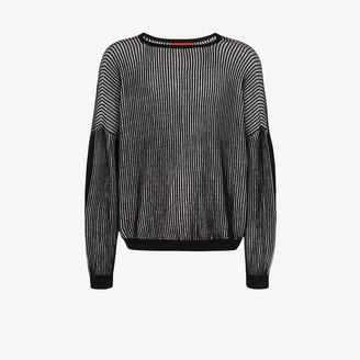 Eckhaus Latta Spine cutout ribbed sweater