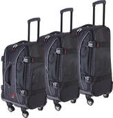 Athalon Hybrid Luggage 3 Piece Set - Black Luggage Sets