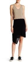 Michael Stars Asymmetrical Draped Wrap Skirt