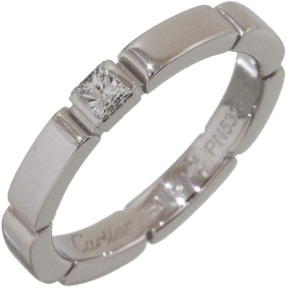Cartier Mailon Panthere 18K White Gold with Diamond Ring Size 4