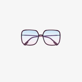 Christian Dior Purple square ombre sunglasses