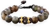 Armenta Old World Midnight Labradorite Bead Bracelet with Diamond Spacer