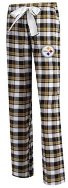 Concepts Sport Women's Pittsburgh Steelers Piedmont Flannel Pajama Pants