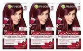Garnier Color Sensation Hair Color Cream, 4.60 Cherry on Top (Dark Intense Auburn), 3 Count (Packaging May Vary)