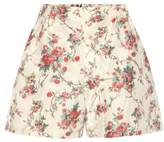 Miu Miu Printed silk shorts
