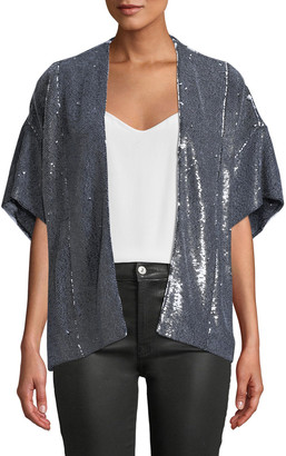 IRO Zeliespe Sequined Short-Sleeve Jacket