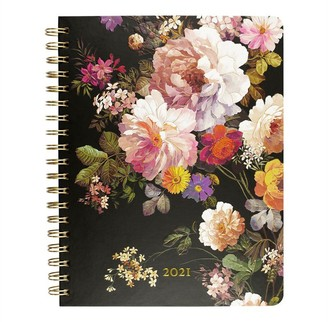 Peter Pauper Press 2020-2021 16-Month Desk Spiral Agenda Midnight Floral