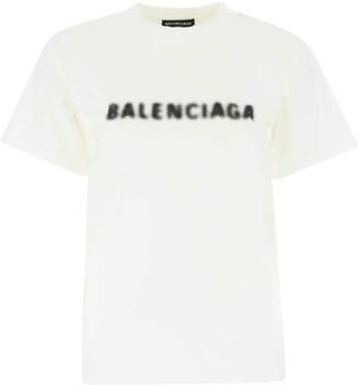 Balenciaga Blurred Logo Print T-Shirt
