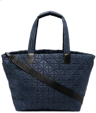 VeeCollective Quilted Leather Tote Bag
