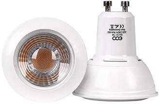 ECO Lights GU10 Dimmable 7W LED COB 60W Equivalent COOL 6000K, Pack of 4