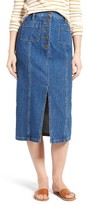 Madewell Women's High Slit Denim Midi Skirt