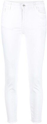 Twin-Set Mid-Rise Cropped Skinny Jeans