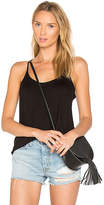 Chaser Strappy Scoop Neck Cami in Black. - size L (also in M,S,XS)