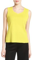 Ming Wang Women's Sweetheart Neck Knit Tank