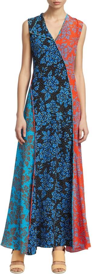 Diane von Furstenberg Women's Floral Silk Maxi Dress