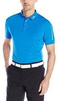 J. Lindeberg Men's Tour Tech Regular Fit Tx Jersey Golf Polo Shirt, Coral