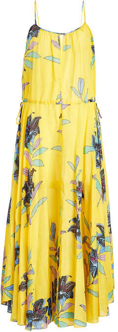 Diane von Furstenberg Printed Dress in Cotton and Silk