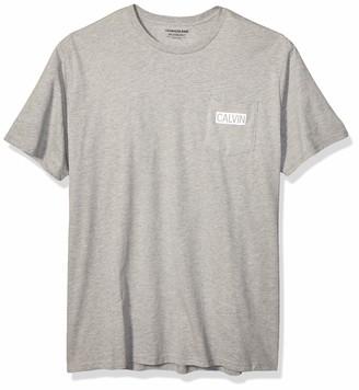 Calvin Klein Men's Short Sleeve T-Shirt Shape Pocket Logo