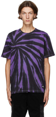Neighborhood Purple and Black Gramicci Edition Tie-Dye T-Shirt