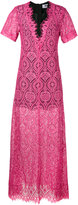 MSGM lace sheer long dress - women - Cotton/Polyamide/Viscose - 38