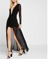 Express black romper maxi dress