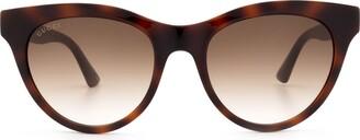 Gucci Gg0763s Havana Sunglasses