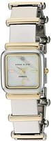 Anne Klein Women's AK/2503MPTT Diamond-Accented Two-Tone Bracelet Watch