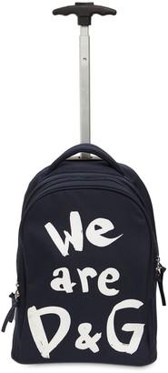 Dolce & Gabbana Nylon Canvas Rolling Backpack