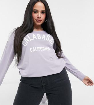 Yours California slogan sweatshirt in purple