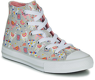 Converse CHUCK TAYLOR ALL STAR LLAMA HI girls's Shoes (High-top Trainers) in Grey