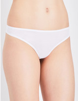 Bodas Basics stretch-cotton hipster thong
