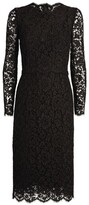 Dolce & Gabbana Floral Lace Long-Sleeved Dress