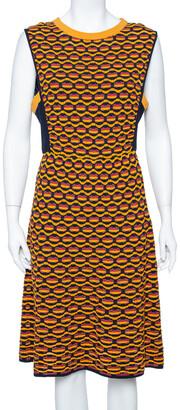 M Missoni Multicolor Crochet Knit Side Paneled Dress L