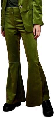 Topshop Flare Velvet Suit Pants