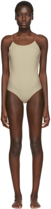 Oseree SSENSE Exclusive Beige One-Piece Swimsuit