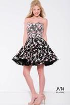 Jovani Strapless Floral Cocktail Dress JVN45269