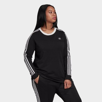 adidas Women's 3-Stripes Long-Sleeve T-Shirt (Plus Size)