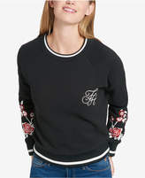 Tommy Hilfiger Embroidered Striped Sweater, Created for Macy's