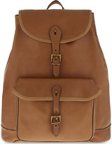 Polo Ralph Lauren Drawstring Leather Backpack
